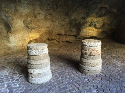 Examples of grinding stones at the Cave of Hercules