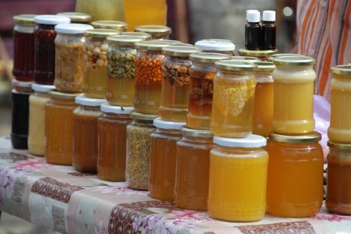 Roadside honey for sale