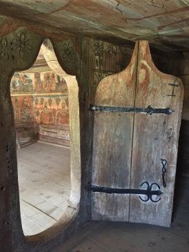 Old wooden door in Rogoz