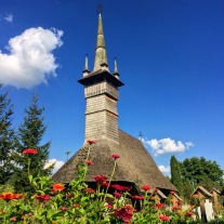 Historic wooden church in Rogoz