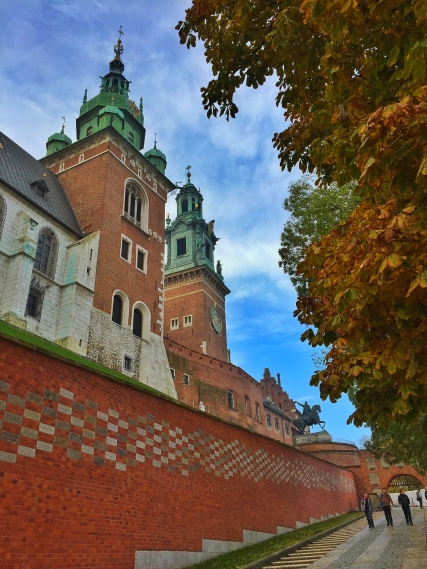 The walk up Wawel Hill