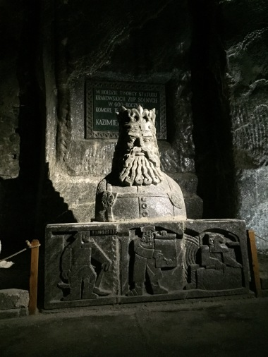 Carving in the Wieliczka Salt Mine