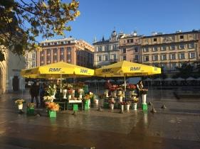 Flower vendors in Rynek Główny