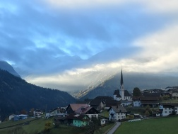 Beautiful Alpine village along the road to Pitztal