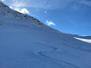 October fresh tracks at Pitztal