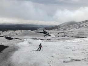 One of the groomed intermediate runs on Etna Nord