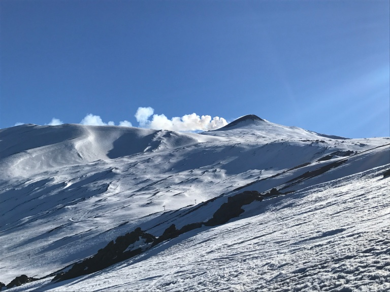 Etna Nord slopes and summit view