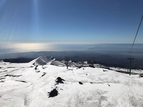 View from the gondola on Etna Sud