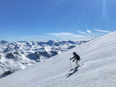 Skiing the Grande Motte Glacier above Tignes
