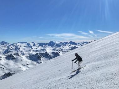 Skiing the Grande Motte Glacier above Tignes