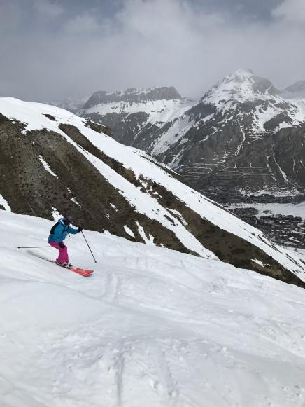 Épaule du Charvet mogul run in Val d'Isère