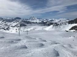 Glacier du Pissaillas high above Val d'Isère
