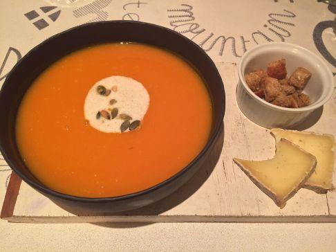 Soup at Oh La Vache Bistro Alpin