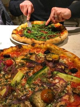 La Pignatta's wood-fired pizzas