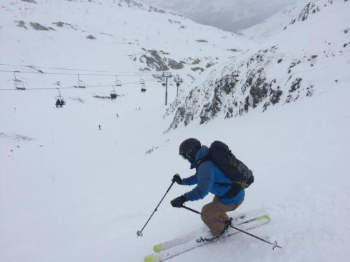 Off-piste from Col de Ves lift