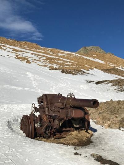 WWI artillery near the top of Monte Padón