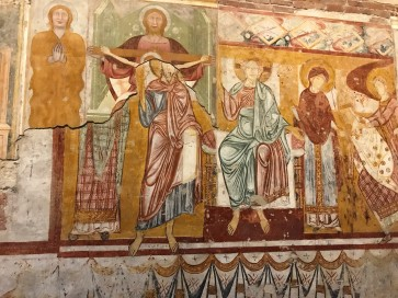 Frescos painted over frescos at Basilica di San Zeno