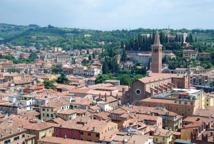 Sant'Anastasia viewed from Torre dei Lamberti