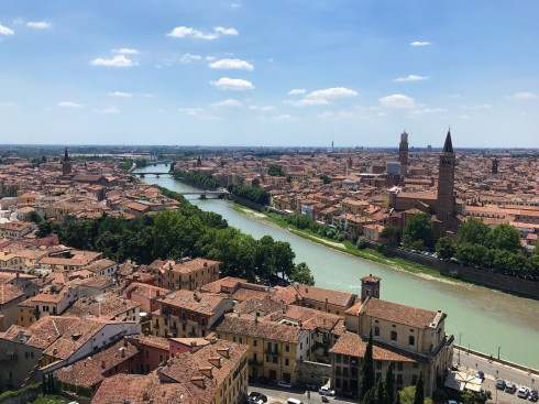 Views over the Adige River from Castel San Pietro