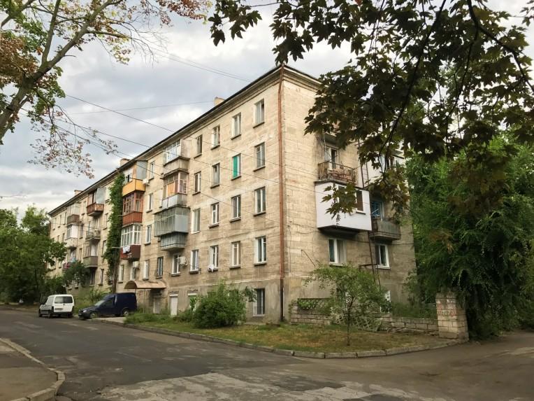 Soviet-style apartment building in Chișinău