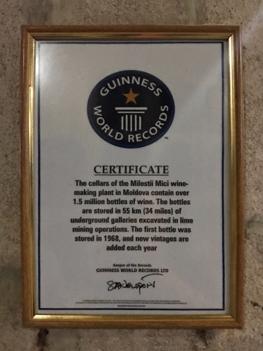 Mileștii Mici's Guinness World Record for the largest wine collection