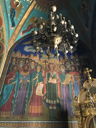 Interior frescos at Nativity Cathedral in Chișinău