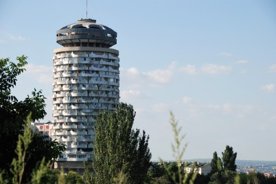 The Romanita Collective Housing Tower—built in the late 1970's for small family units, it's one of the best examples of Socalist Modernist architecture in Chișinău.