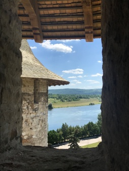 View of Ukraine across the Dneister River from Soroca Fortress