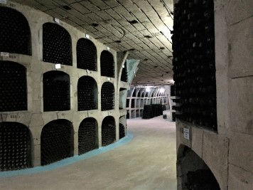 The wine cellars at Cricova Winery