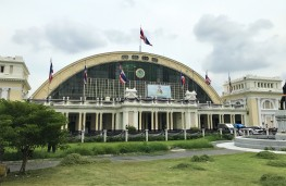 Bangkok's Italian Neo-Renaissance-style train station built in 1916.