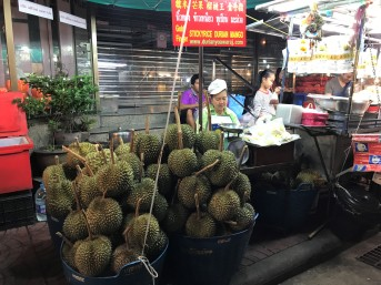 Durian for sale on Yaowarat Street