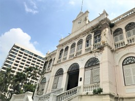 The Venetian-style East Asiatic Company building, built in 1884, on the banks of the Chao Phraya River.