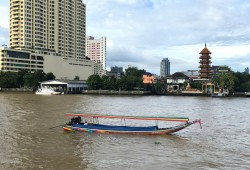 Long-tail boat on the Chao Phraya River
