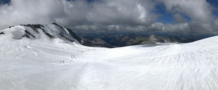 Panorama from the top of the Payer lift