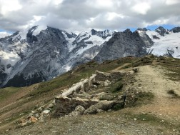 Foundation from a WWI fortification above Passo dello Stelvio