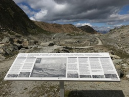 The history of WWI in the region is told on information panels in 6 different language