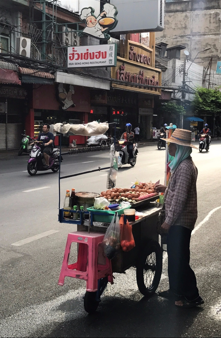 A Bangkok street food vendor