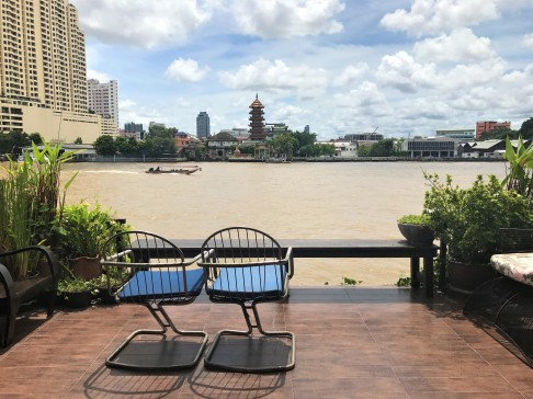 The perfect terrace to watch life go by on the Chao Phraya RIver
