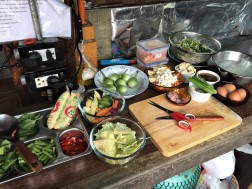 Ingredients for our Thai cooking demonstration