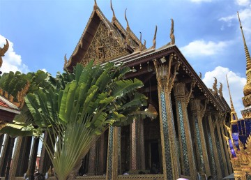 The ornate Wat Phra Kaew in the Grand Palace
