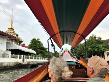 Riding through Thonburi's Canals