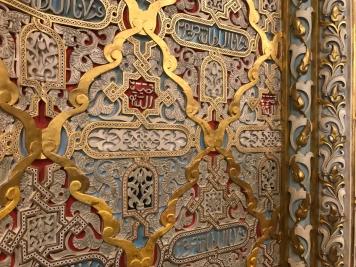 Ornate details in the Palácio da Bolsa's Arab Room.