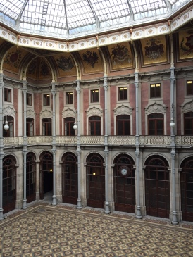 The interior courtyard of Porto's Palácio da Bolsa (Stock Exchange Palace)