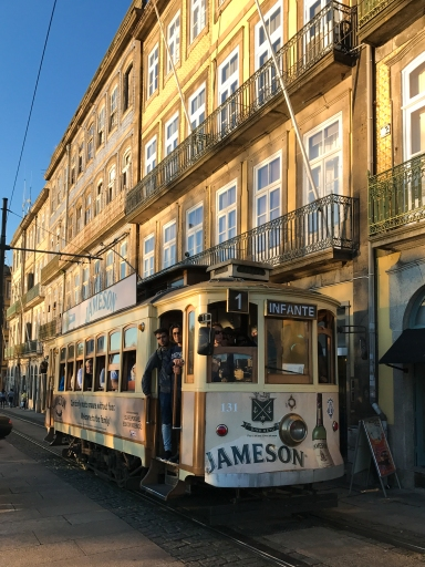 One of the city's iconic trams