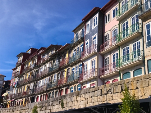 Colorful buildings along the Douro River