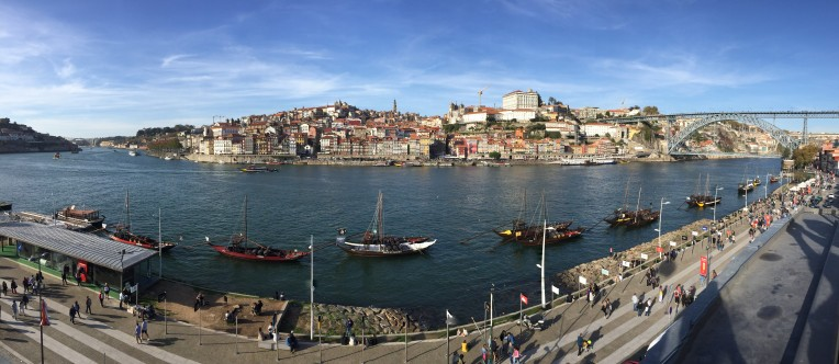 Panoramic view of Porto from Vila Nova de Gaia
