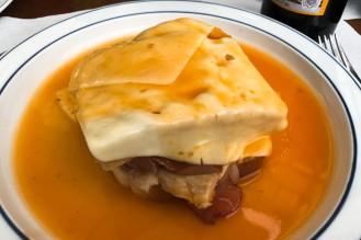 Porto's famous francesinha sandwich