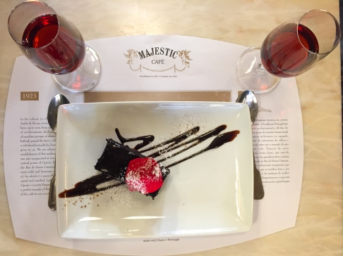 Dessert and port at Majestic Café