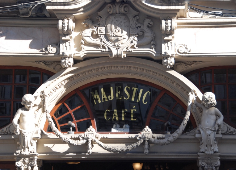 The Belle Époque facade of Majestic Café