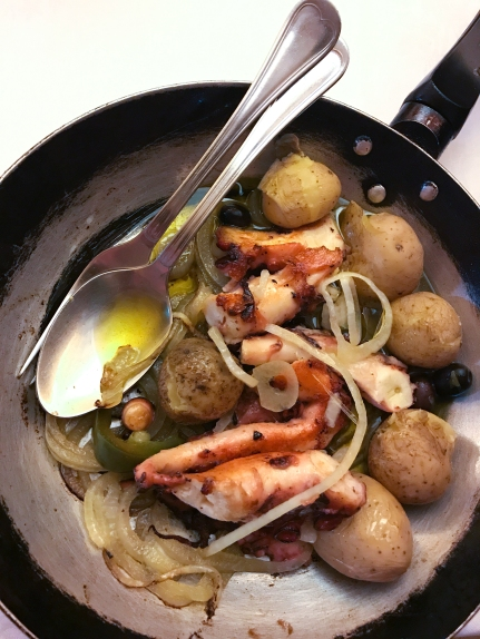 The city's specialty of polvo no forno—octopus and vegetables